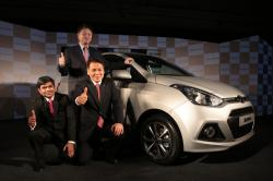 Hyundai Launches New Compact Sedan Xcent 2014