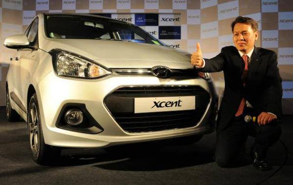 "Hyndai launches ""Xcent"", its new small passenger car for India"
