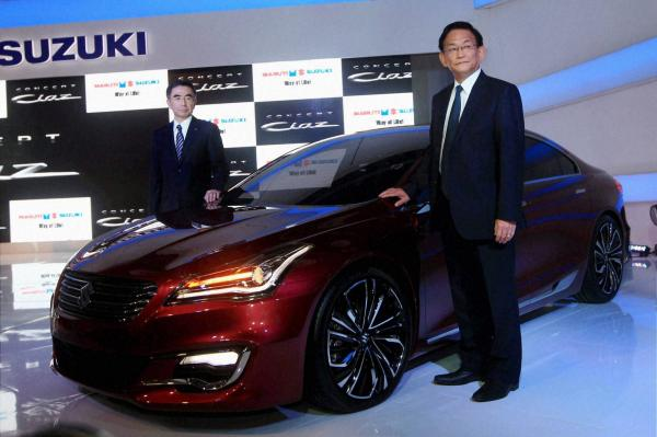 Suzuki launch sedan Ciaz and crossover SX4 S Cross at Auto Expo