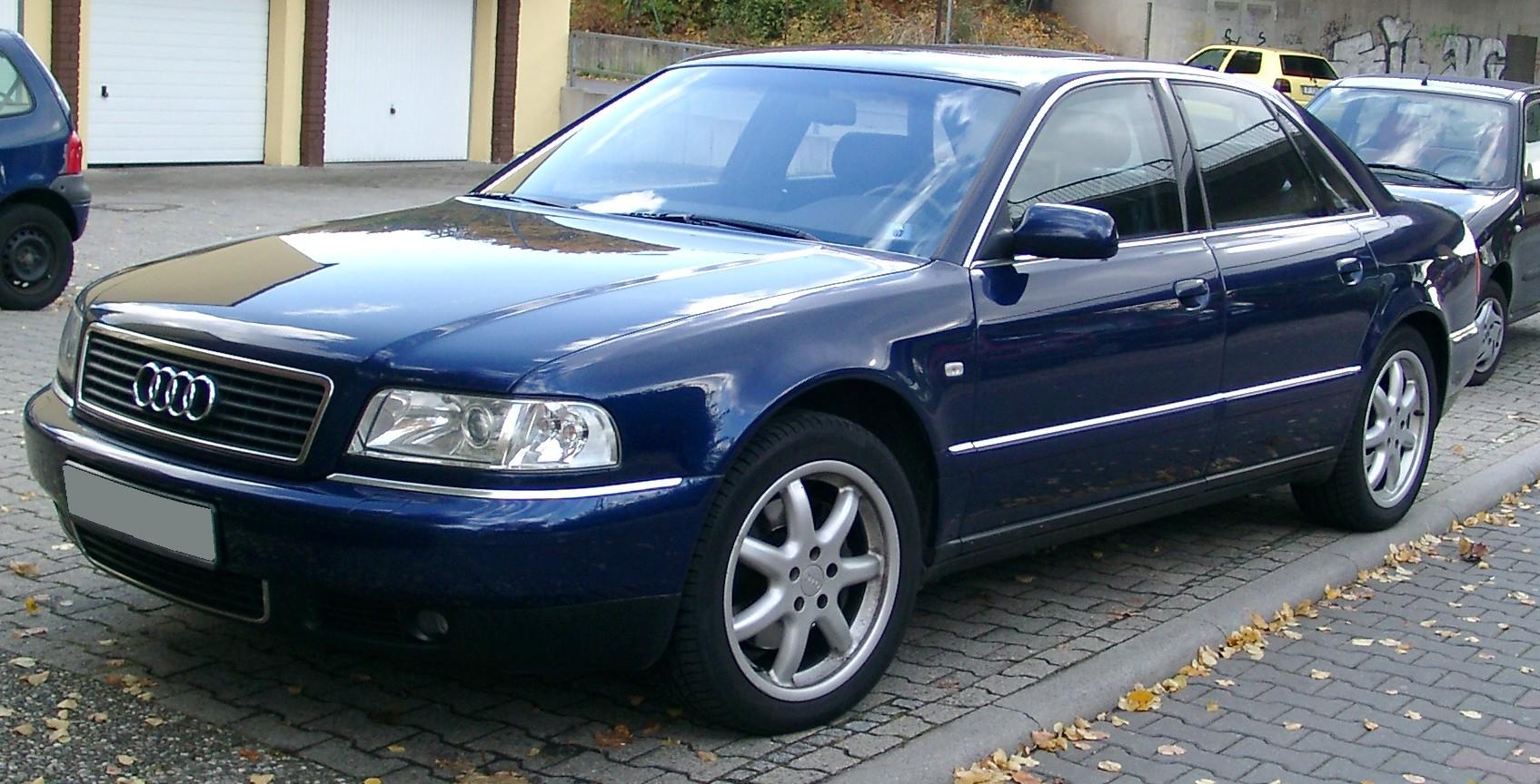 AUDI A8 blue