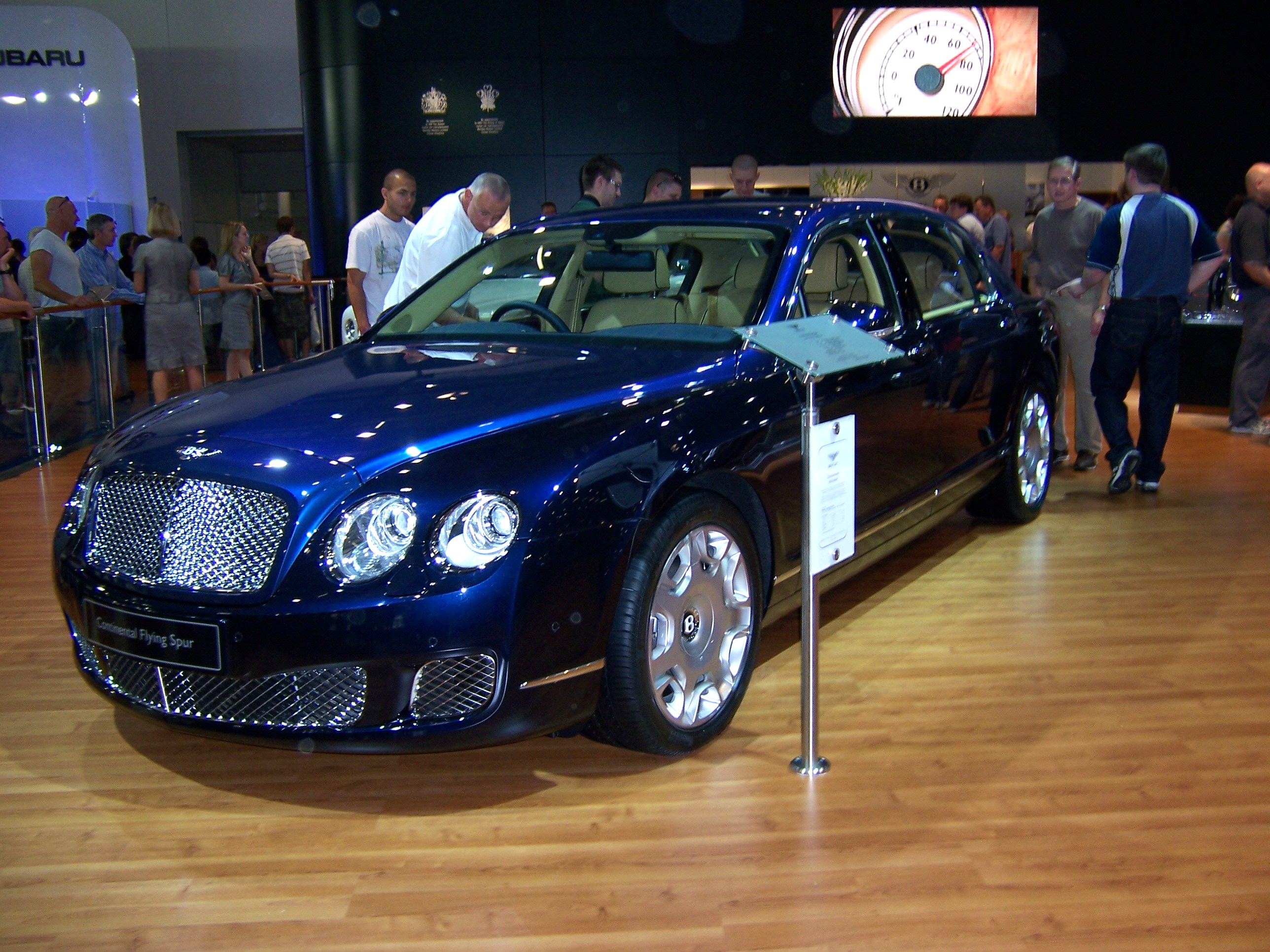 BENTLEY CONTINENTAL FLYING blue