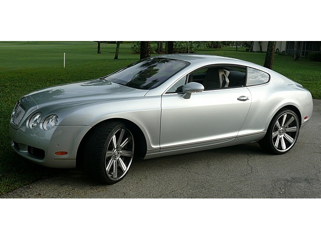 BENTLEY CONTINENTAL GT COUPE silver