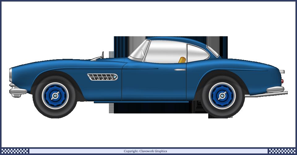 BMW 507 blue