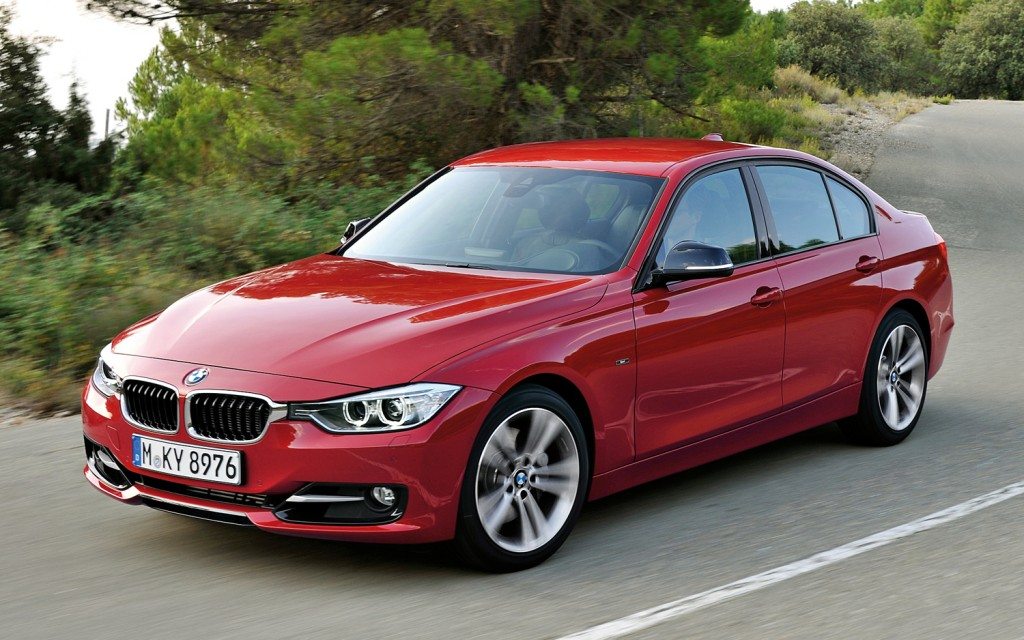 BMW 5 red