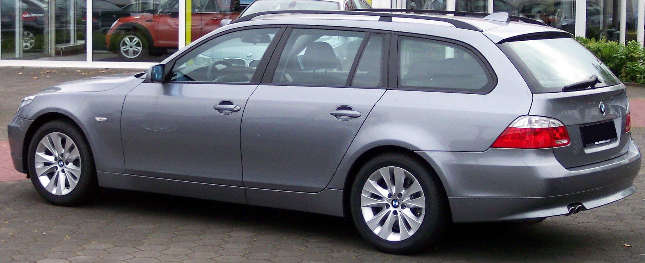 BMW 5 silver