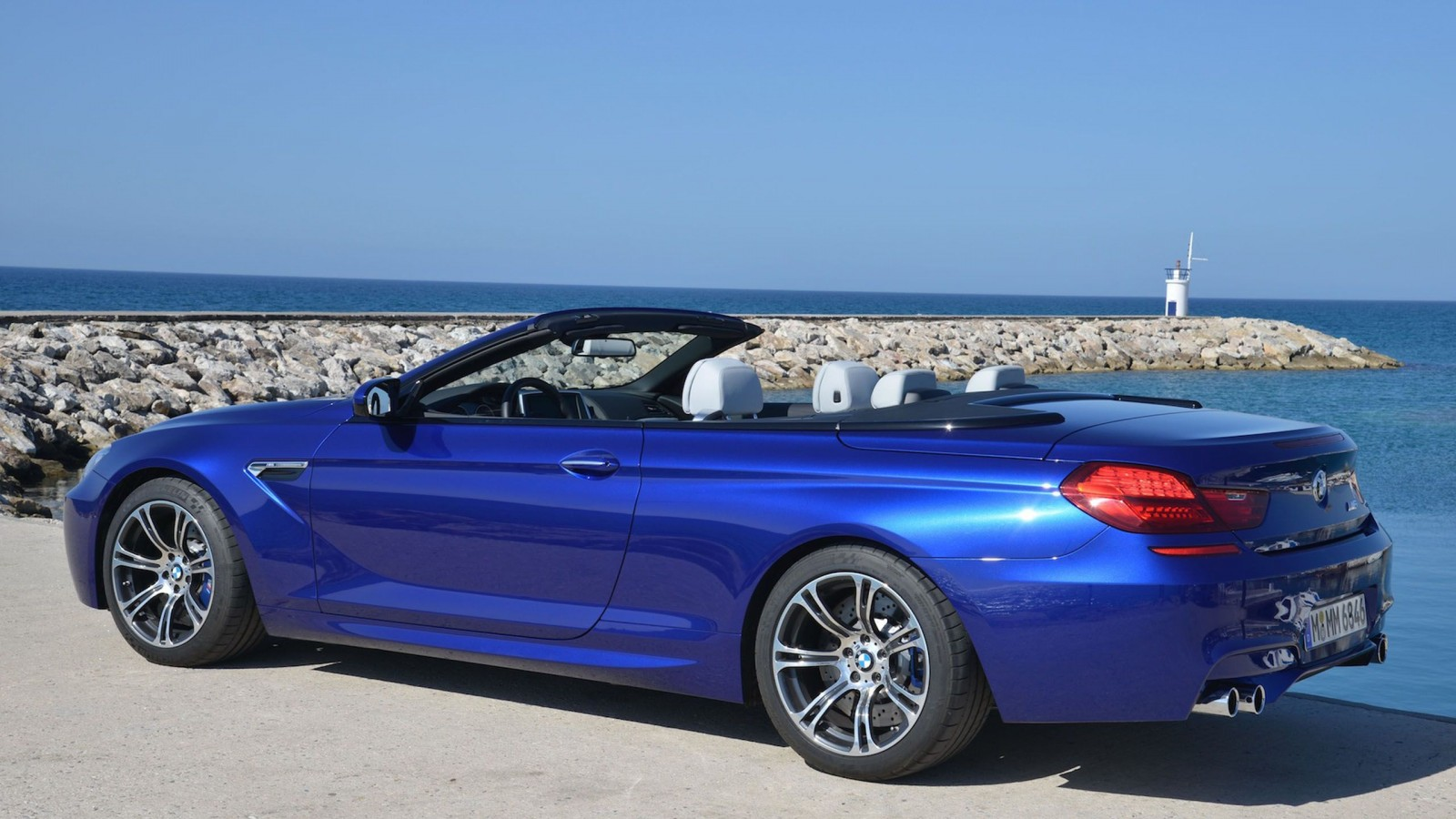 BMW 6 CABRIOLET blue