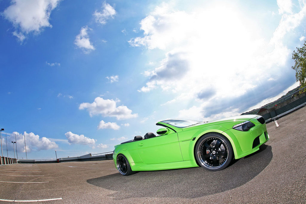 BMW 6 CABRIOLET green