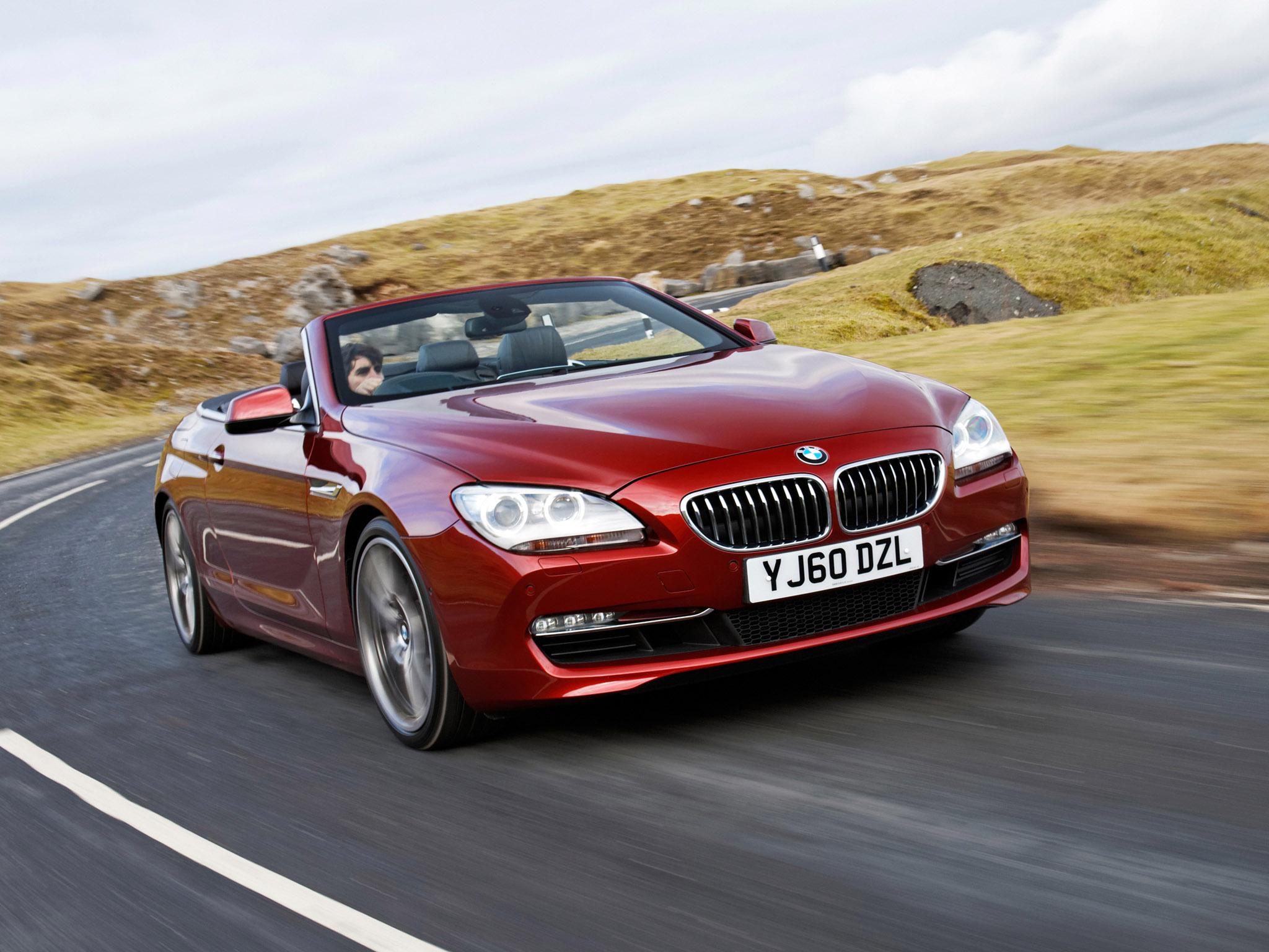 BMW 6 CABRIOLET red