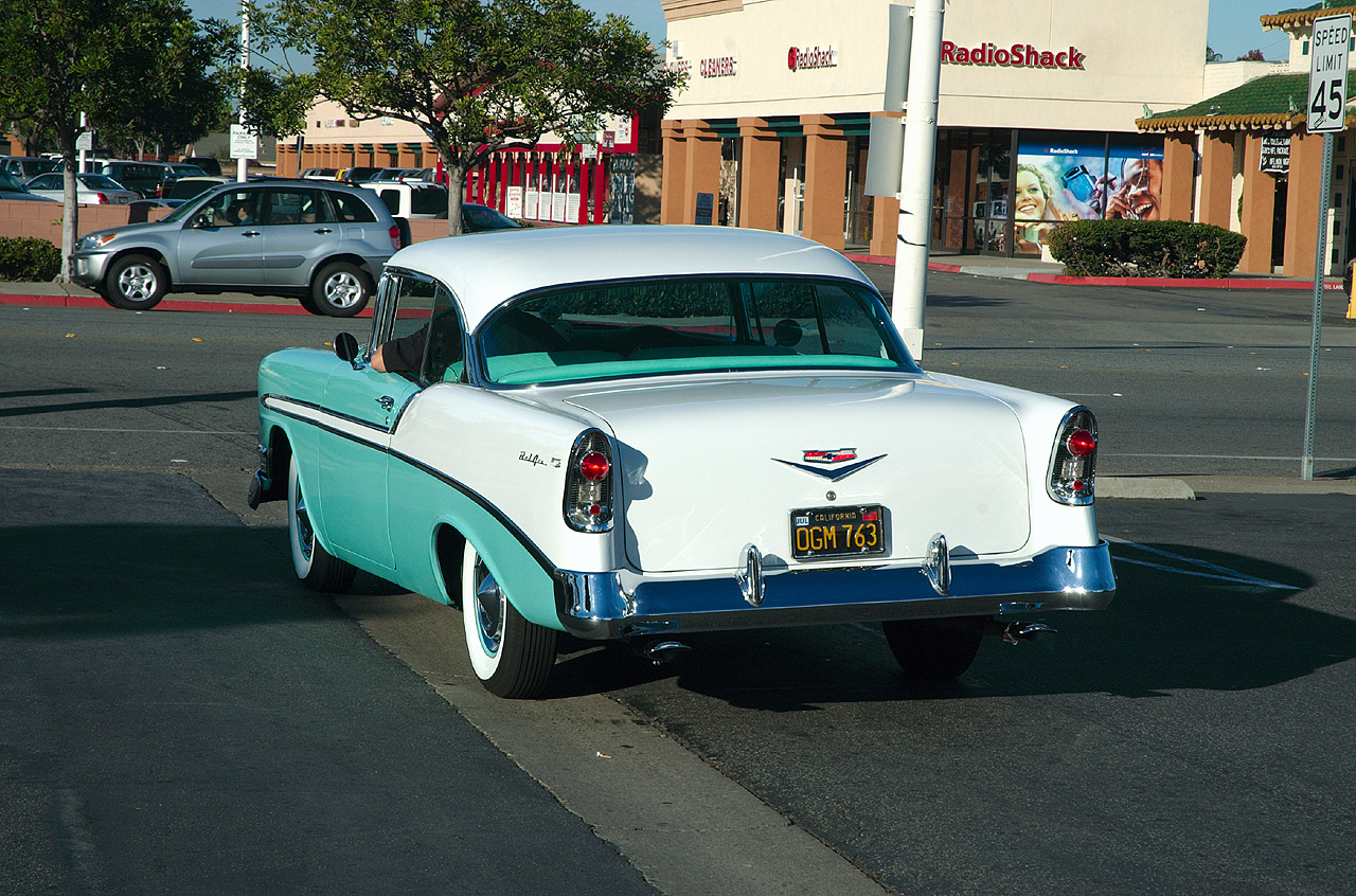 CHEVROLET BEL AIR COUPE green