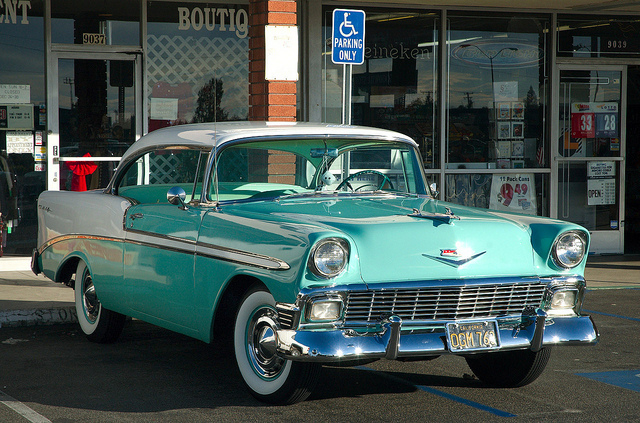 CHEVROLET BEL AIR COUPE white