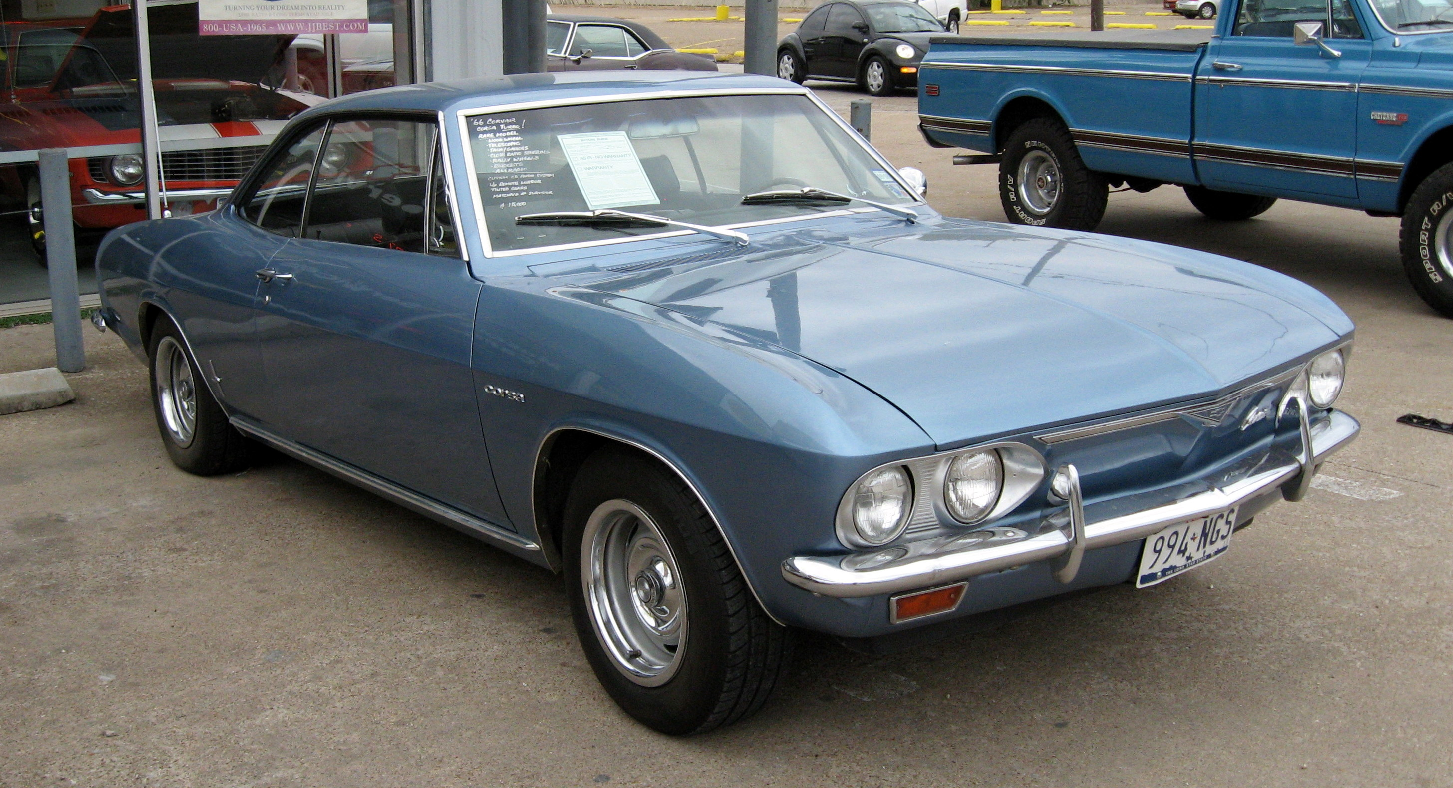 CHEVROLET CORVAIR blue