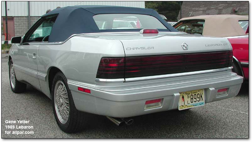 CHRYSLER LEBARON black