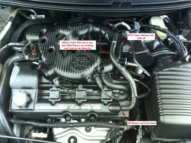 CHRYSLER SEBRING 2.7 engine