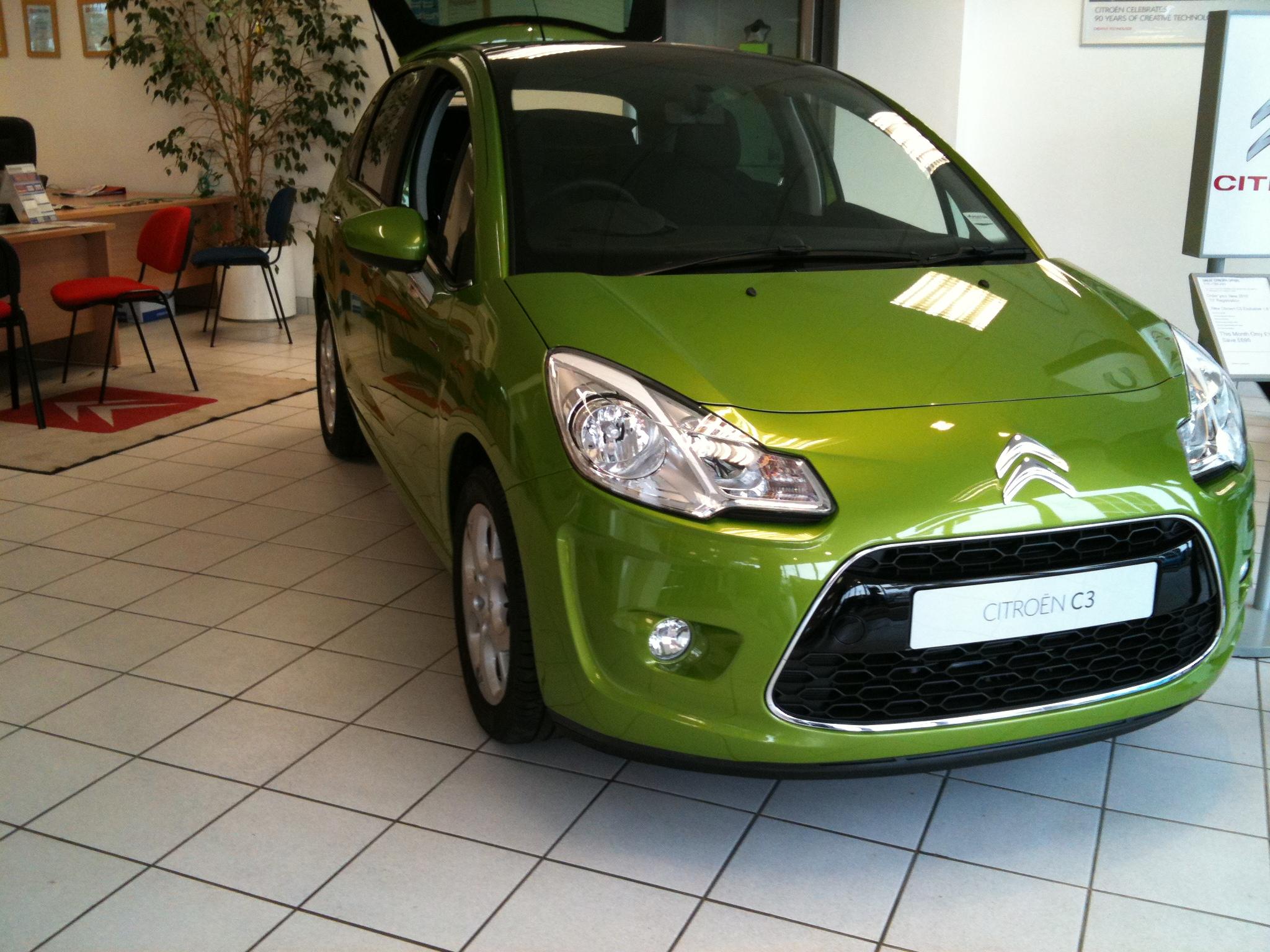 CITROEN C3 green