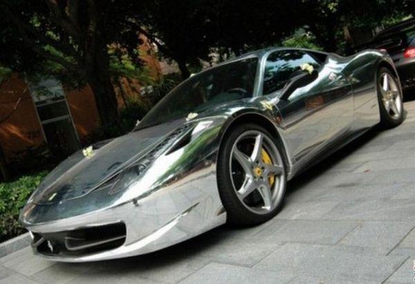 FERRARI 458 ITALIA silver