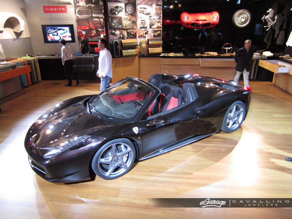 FERRARI 458 SPIDER black