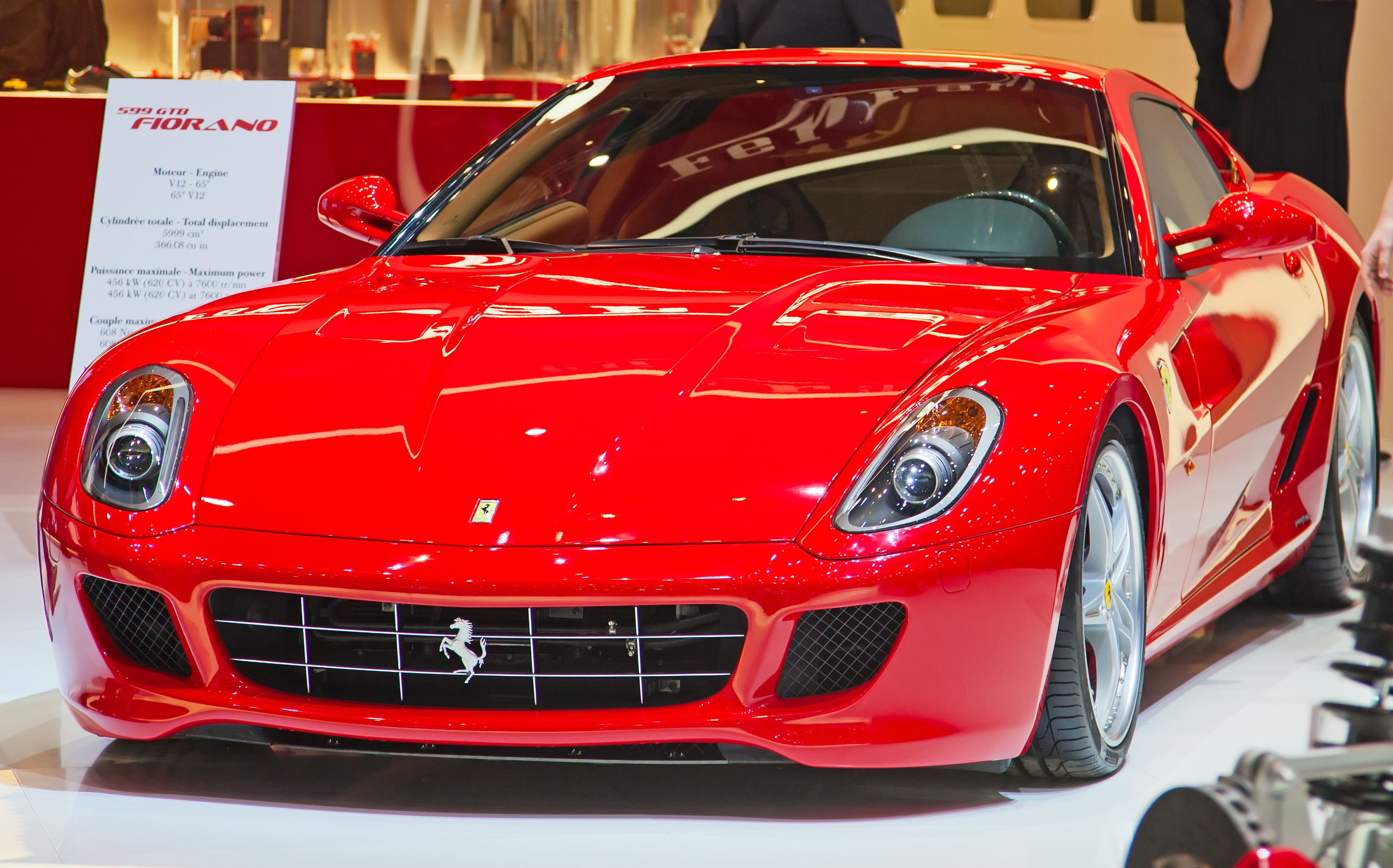 GENEVA - MARCH 8: THE FERRARI 599 GTB FIORANO ON THE 81ST INTERNATIONAL MOTOR SHOW PALEXPO-GENEVA ON MARCH 8; 2011 IN GENEVA, SWITZERLAND. BY SWISSHIPPO