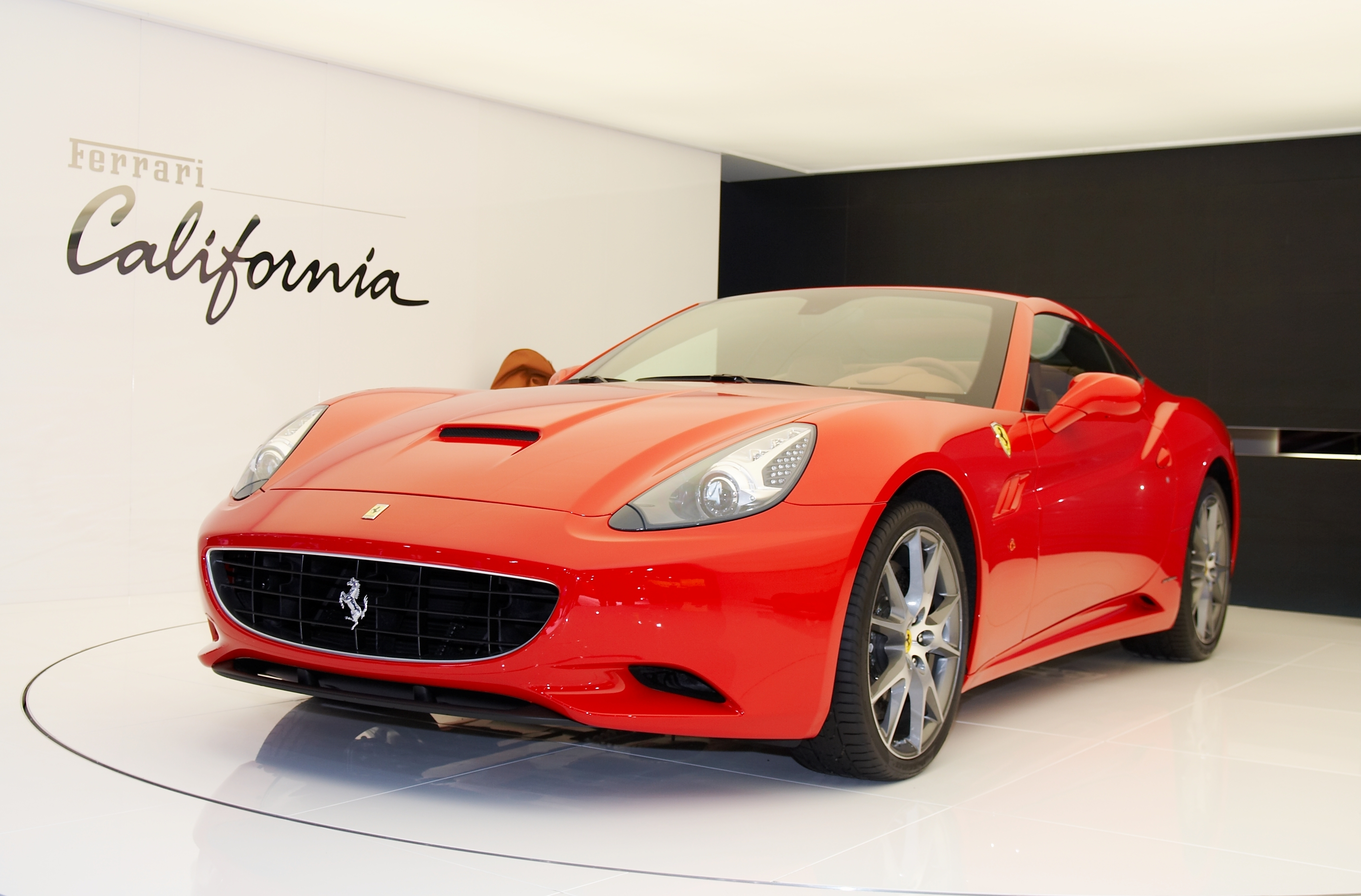 PARIS, FRANCE - OCTOBER 02: PARIS MOTOR SHOW ON OCTOBER 02, 2008, SHOWING FERRARI CALIFORNIA, FRONT VIEW BY MAKSIM TOOME