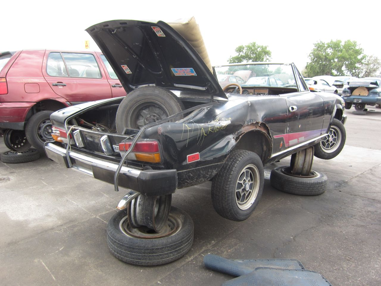 FIAT 124 black