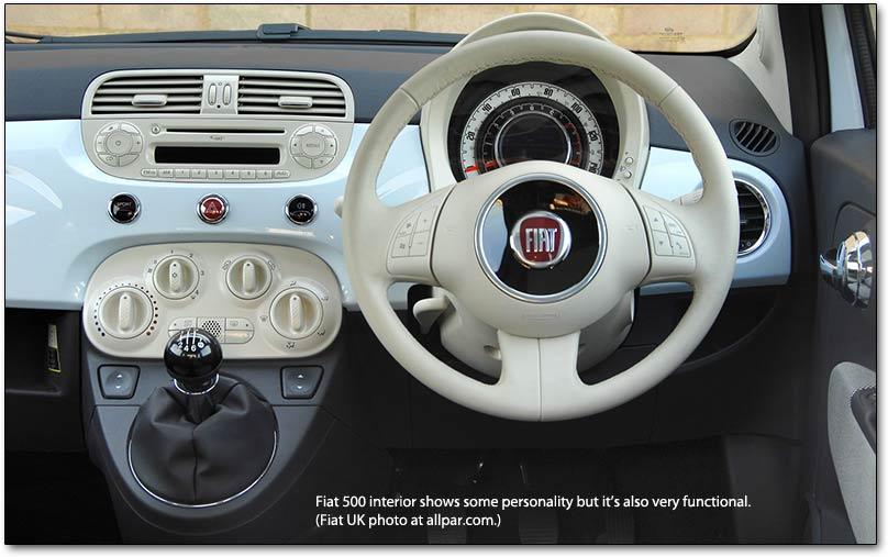 FIAT 500 1.2 interior