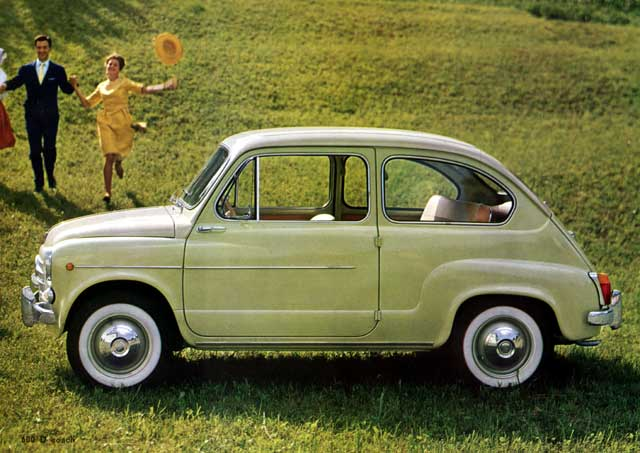 FIAT 600 green