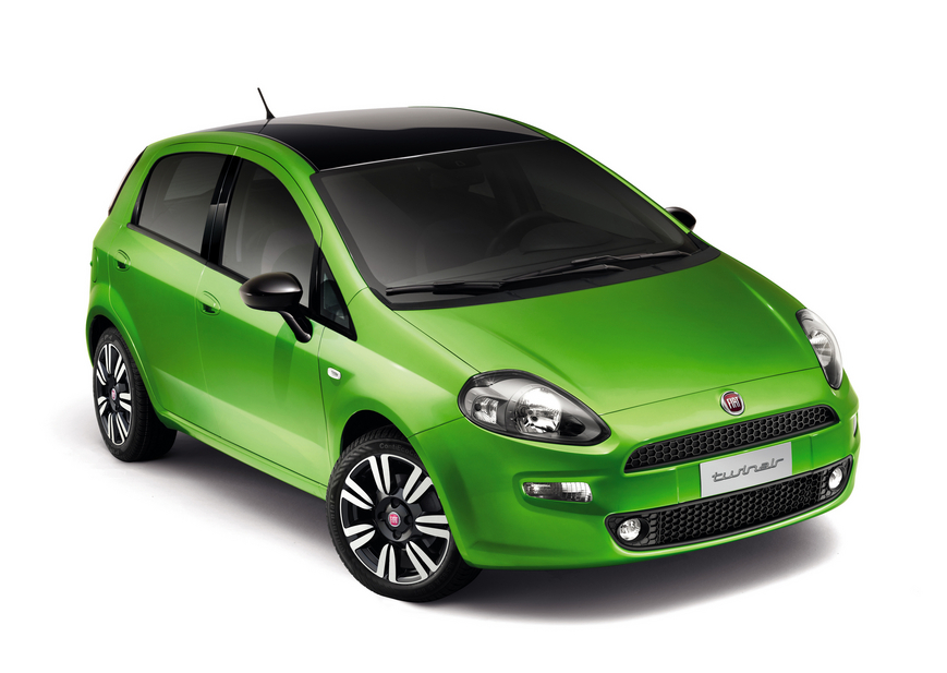 FIAT GRANDE PUNTO green