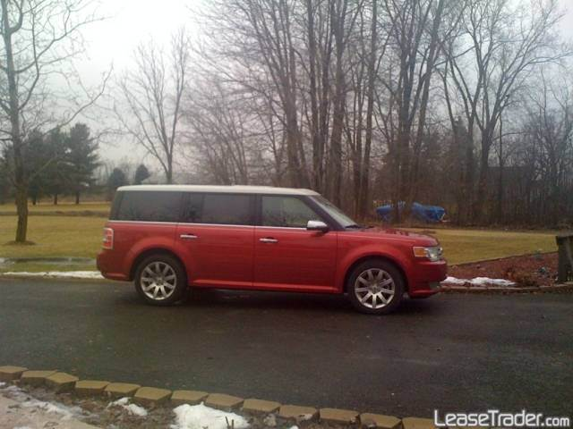 FORD FLEX LIMITED red