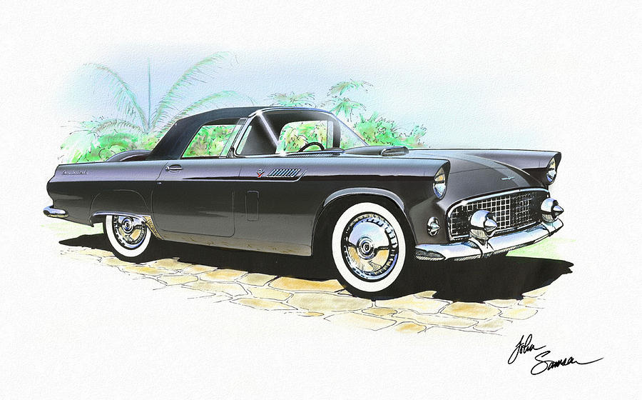 FORD THUNDERBIRD CAR black