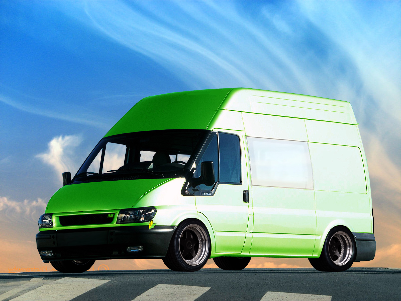 FORD TRANSIT green