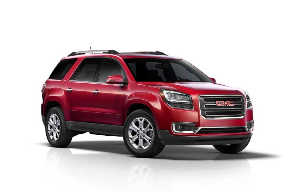 GMC ACADIA DENALI red