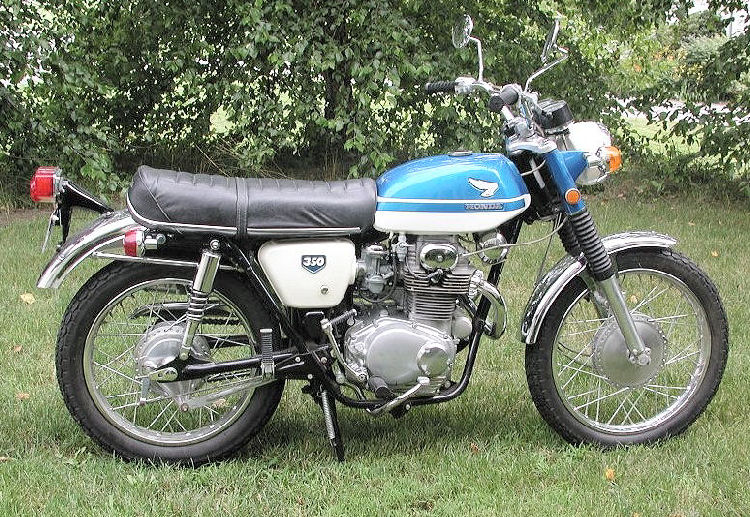 HONDA 350 blue