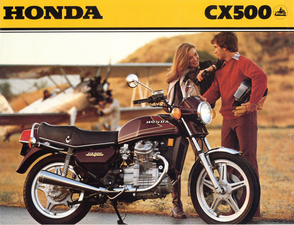 HONDA 500 CX blue