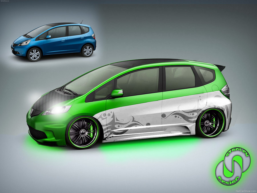 HONDA CITY FIT green