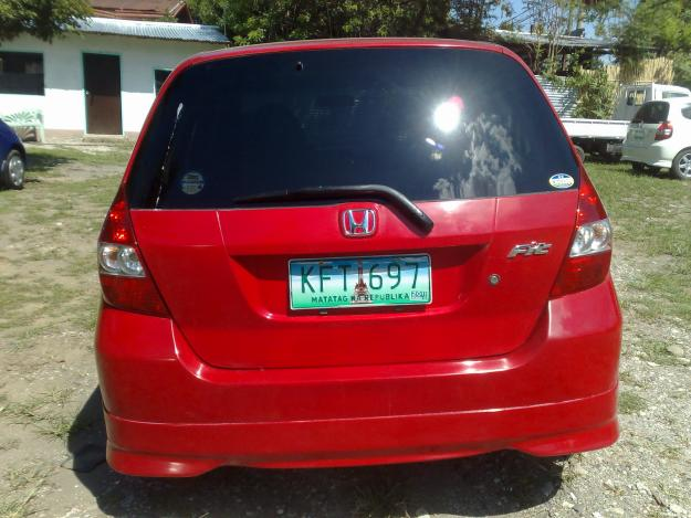 HONDA CITY FIT red