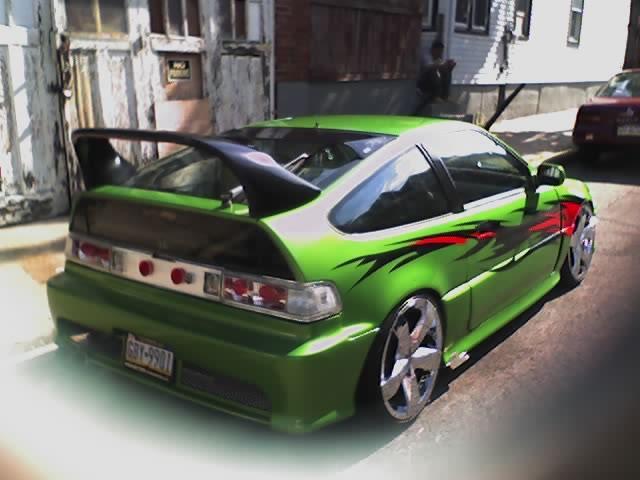 HONDA CRX green