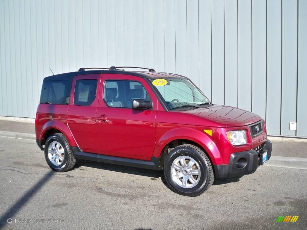 HONDA ELEMENT AWD red