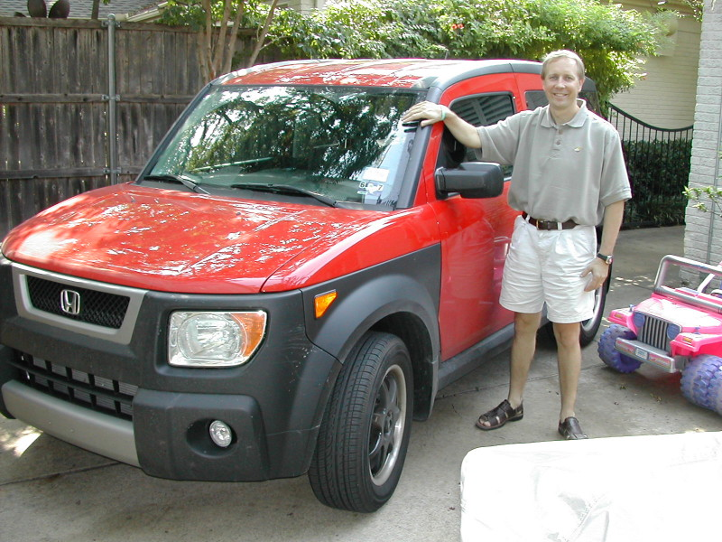 HONDA ELEMENT red