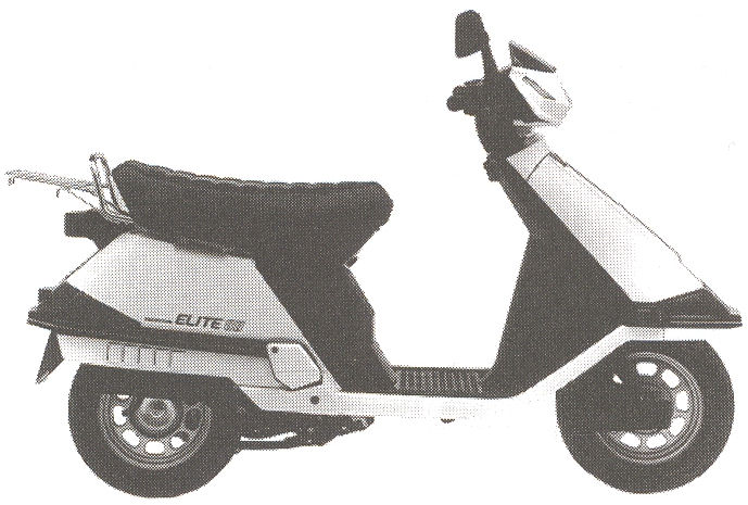 HONDA ELITE 80 white