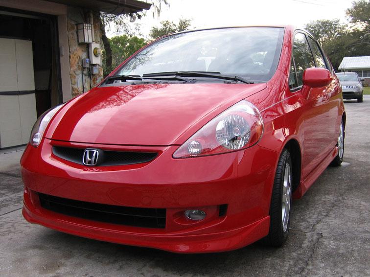 HONDA FIT red