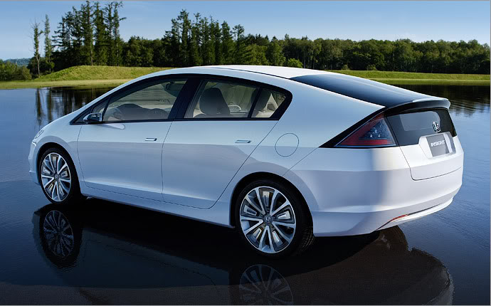 HONDA INSIGHT white