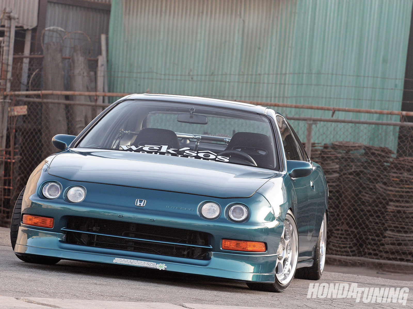 HONDA INTEGRA green