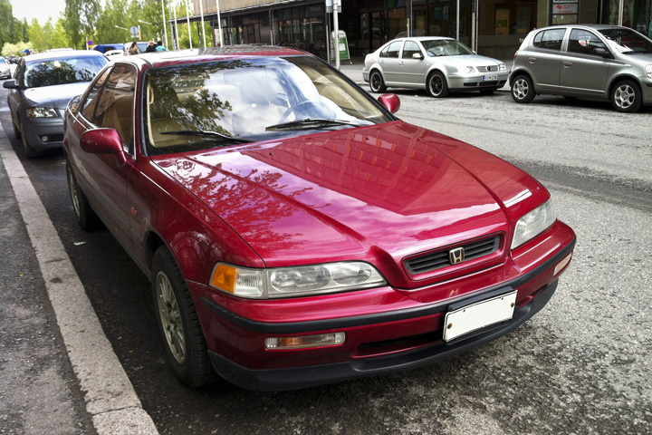 HONDA LEGEND COUPE red