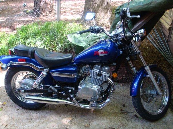 HONDA REBEL blue
