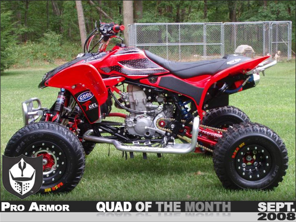 HONDA TRX 450 red
