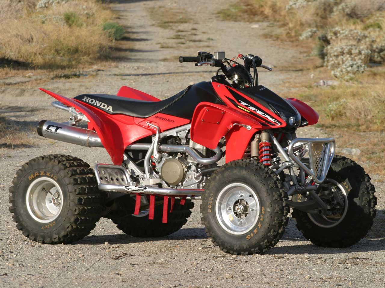 HONDA TRX 450 silver