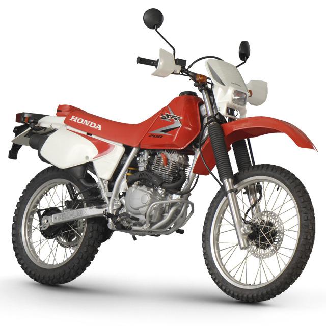 HONDA XLR red