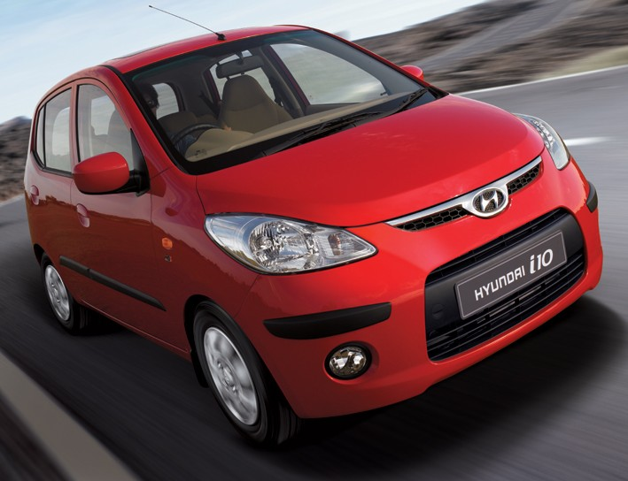 HYUNDAI I10 red