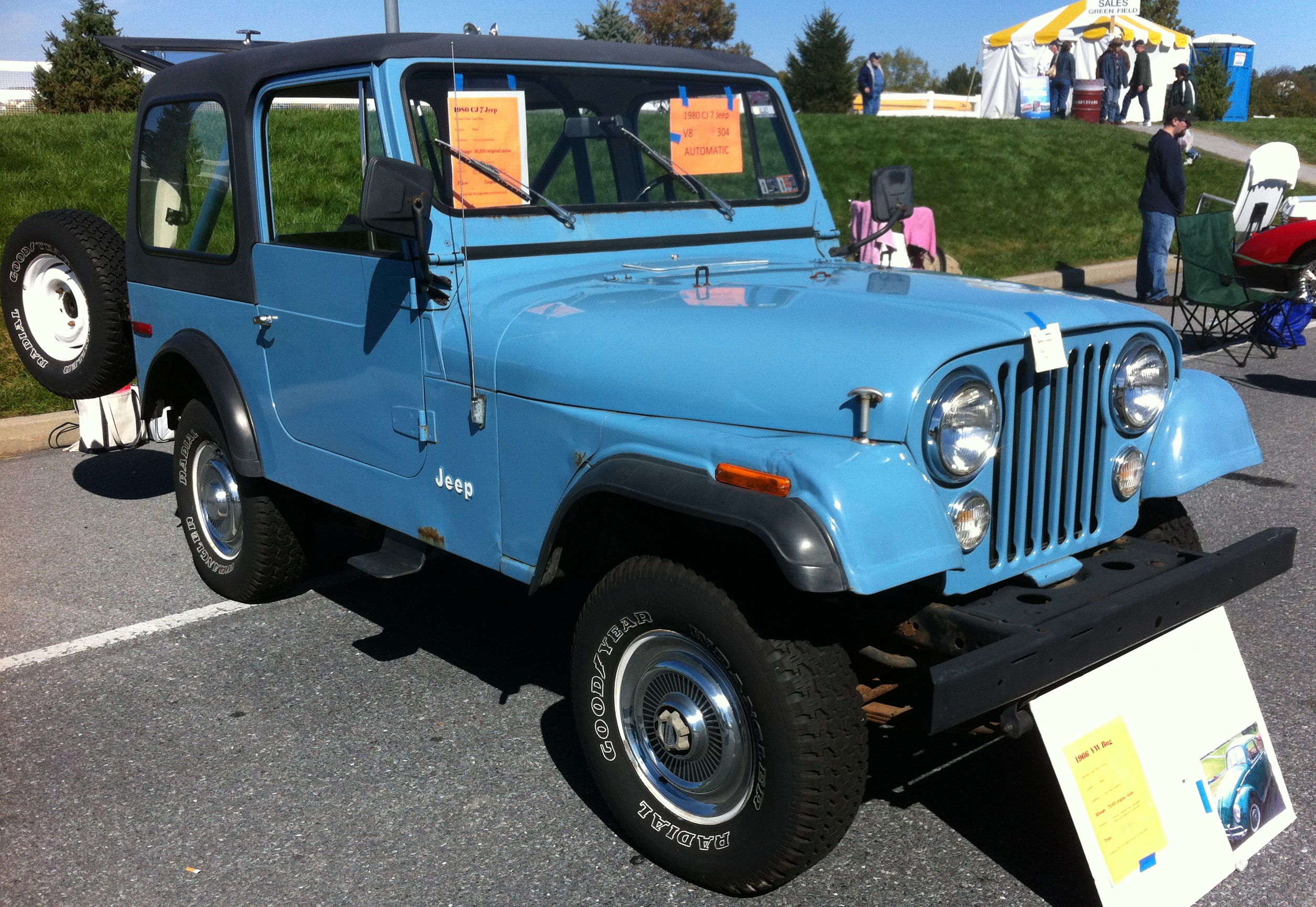 JEEP CJ 7 blue