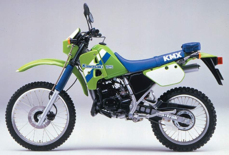 KAWASAKI 125 KMX blue