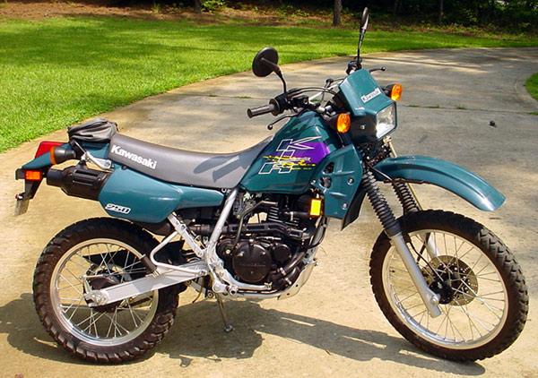 KAWASAKI KLR 250 blue